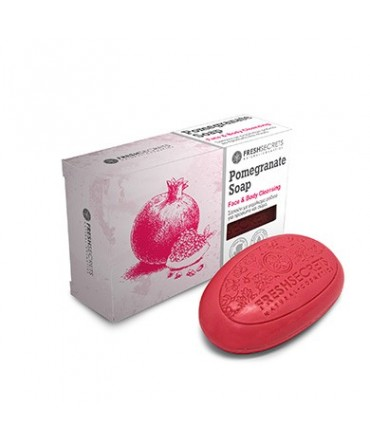 Fresh Secrets Bridge Soap for Face and Body With Pomegranate Extract