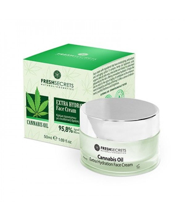 Fresh Secrets Face Cream 24Η Well Aging Care With Cannabis Oil