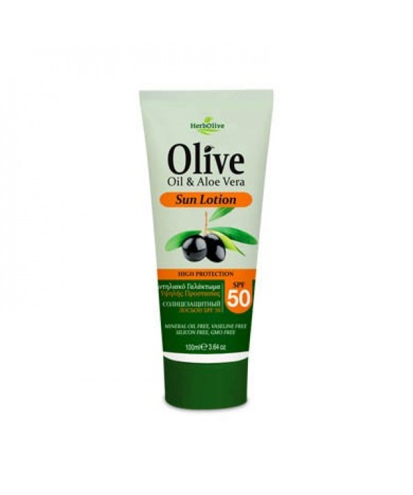 Herbolive Sun Lotion SPF 50 With Aloe Vera and Panthenol